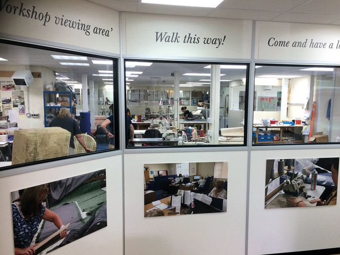 See our workshop from the customer viewing gallery.