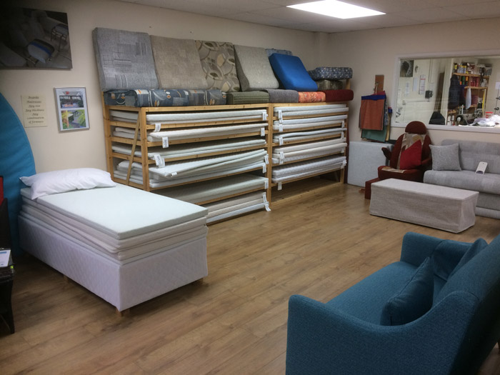We have many foam cushions and mattresses for you to try