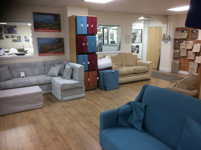 We have many displays of caravan, motorhome and boat upholstery and furnishings