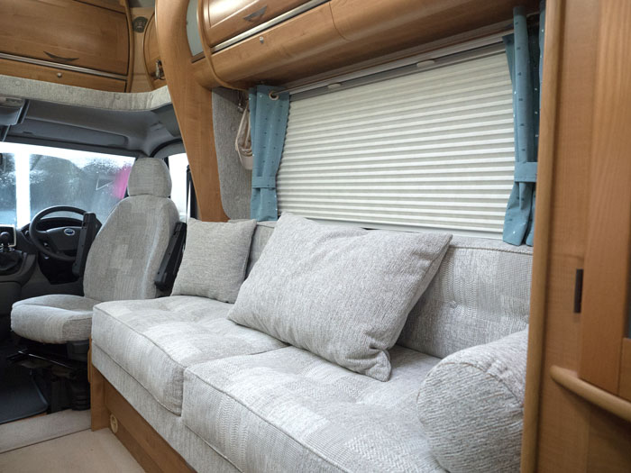 Motorhome, motor caravan and horsebox upholstery, furnishings, cushions, mattresses and curtains