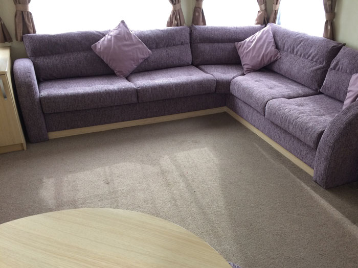 New static caravan seat cushions and scatter cushions in a contemporary chenille fabric