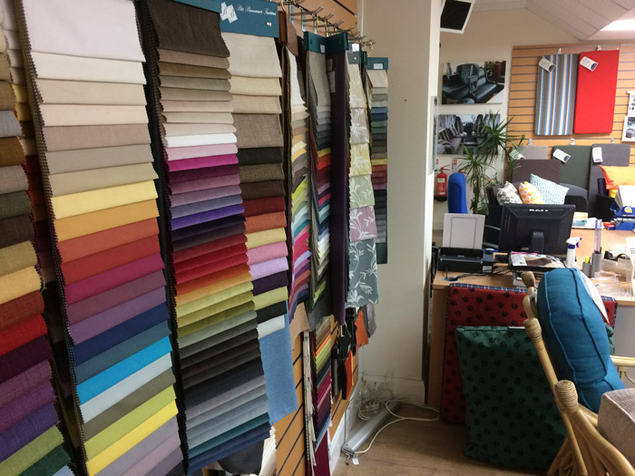 We have thousands of fabrics on view in our Bristol based showroom.