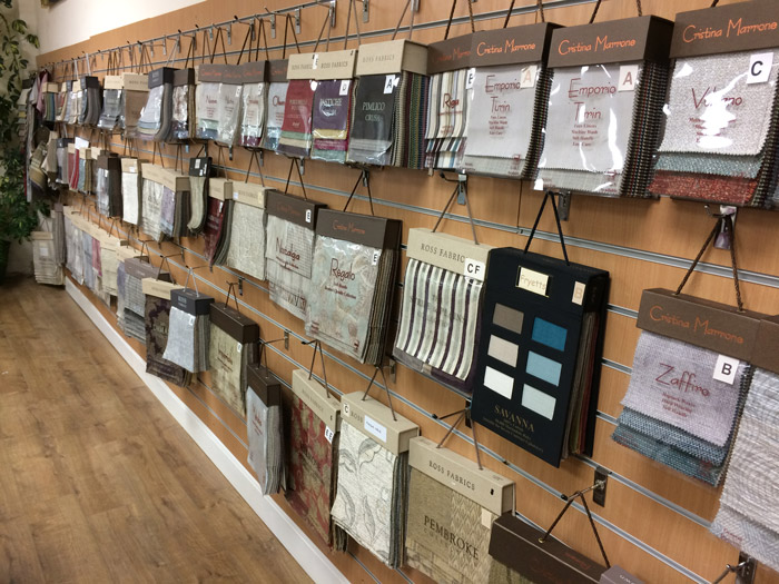 We have thousands of upholstery and curtain fabrics on display