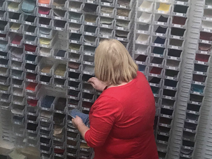 Debbie, our dedicated samples lady, will pick and supply samples of any fabrics, you are intersted in, and send them by post.