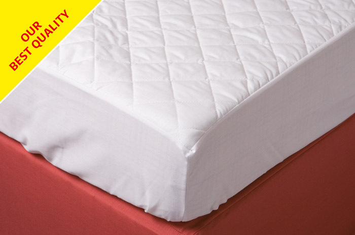 Cap style polycotton moisture resistant quilted foam mattress cover.