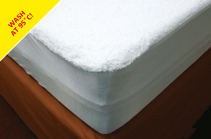 Cap style polycotton waterproof terry towelling foam mattress cover.