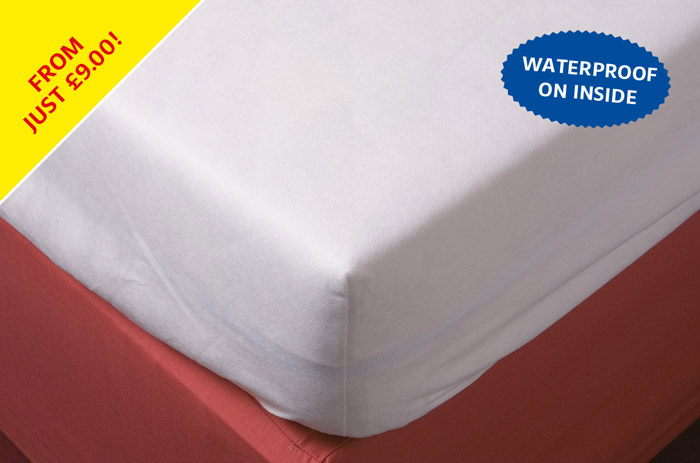 Cap style polypropylene waterproof foam mattress cover.