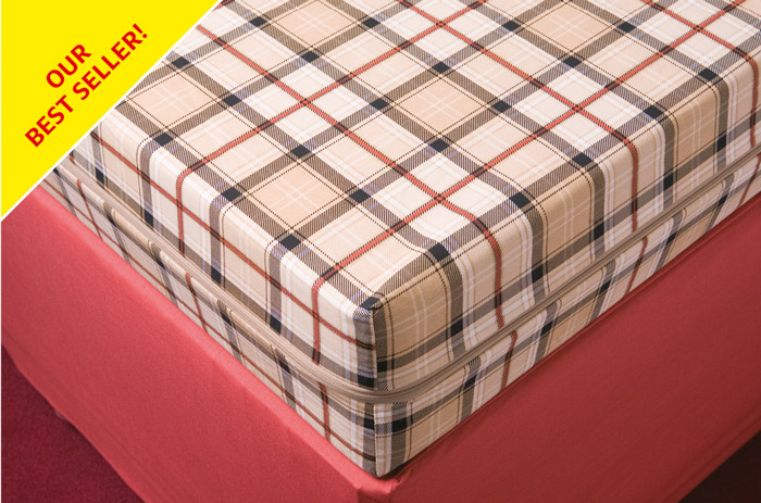 Our best selling zip-on zipped foam mattress cover/protector.