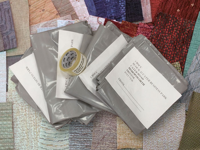 We'll gladly supply fabric samples and everything you need to pack up your furnishing items