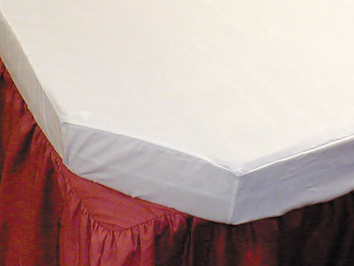 We can easily make made-to-measure fitted sheets to fit odd shaped foam mattresses