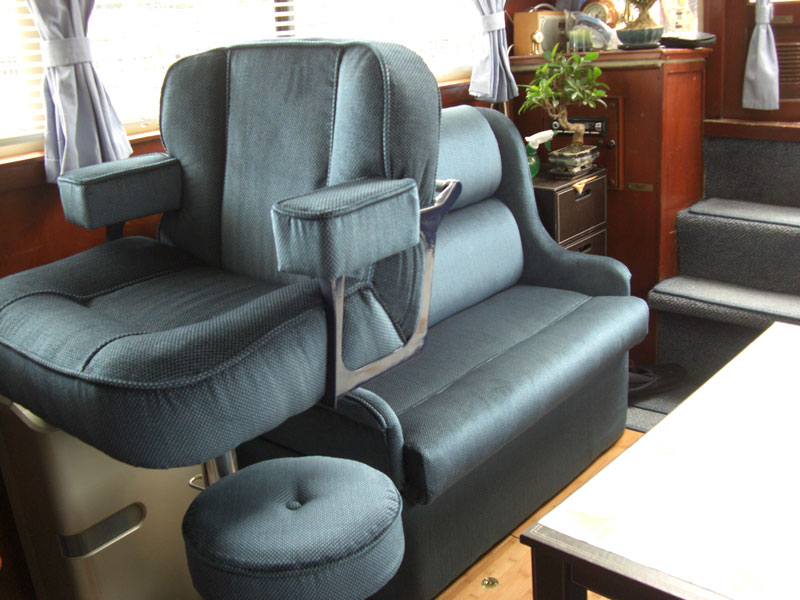 Newl upholstery for a pleasure boat