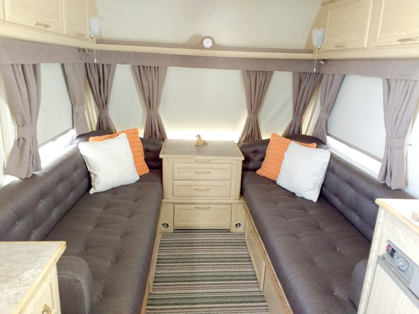 touring caravan furnishings  upholstery